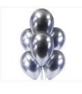 Облако из 9 шаров Металический хром