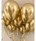 Облако из 9 шаров Золотой хром