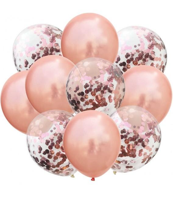 Облако из 9 шаров Бронзовые брызги