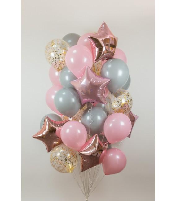 Набор из 21 шара Розовая дымка