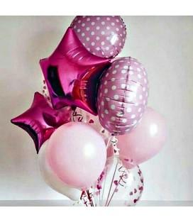Набор из 11 шаров Розовый горошек