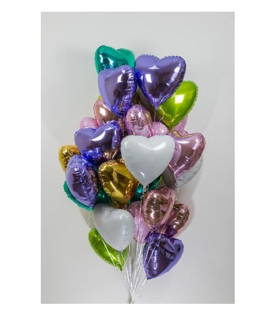 Набор из 25 шаров сердец Ассорти