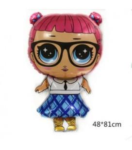 Шар фигура Кукла лол Учительница 70х 49 см.