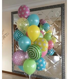 Набор из 15 шаров Конфетная радуга