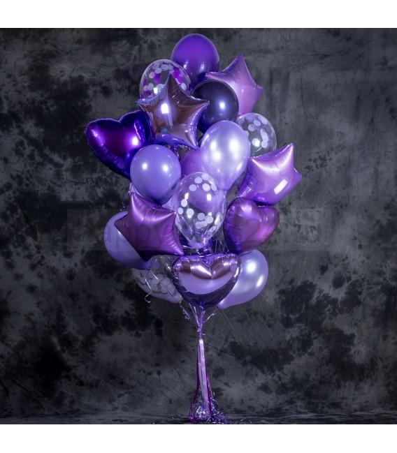 Набор из 23 шаров Фиолетовый БУМ