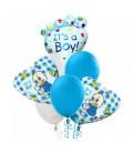 Облако из 9 шаров в клеточку мальчик