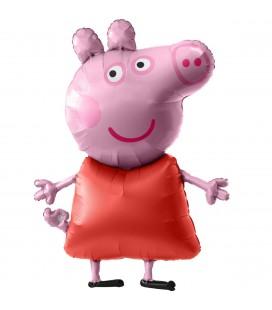 Шар Фольгированная ходячая фигура свинка Пеппа 91х121 см.