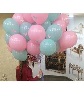 Облако из 30 шаров Батэрфлай Пастель ассорти