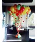 Фонтан из 30 шаров Разноцветный дерижабль