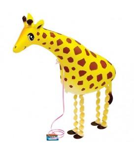 Шар фольгированная ходячая фигура Жирафик 59х40 см