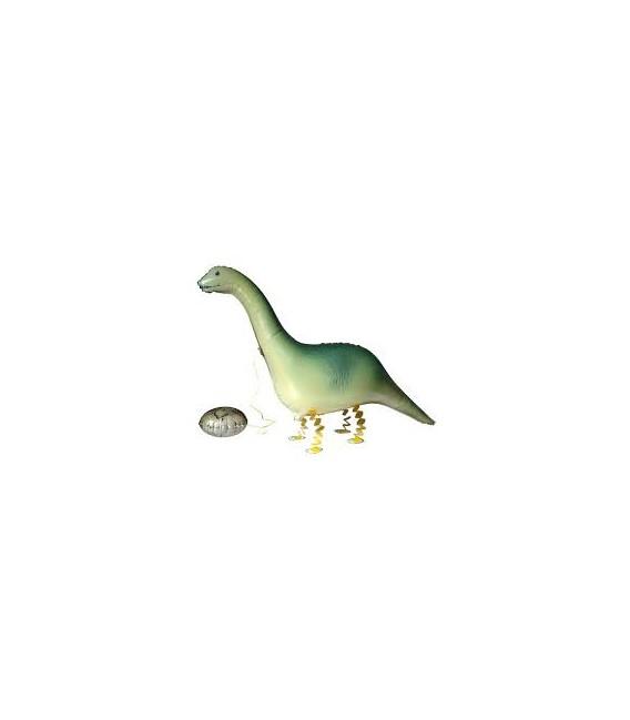 Шар фольгированная ходячая фигура Динозаврик 69х40 см