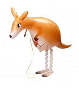 Шар фольгированная ходячая фигура Кенгуру 59х40 см