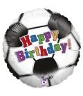 Фольгированная фигура футбольный мяч с Днем Рождения 18 дюймов (46 см)