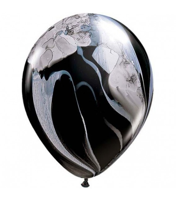 Шарик Агат чёрно-белый 12 дюймов (30 см)