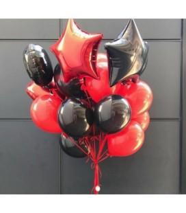 Облако из 21 шара Красное и чёрный