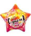 Шар звезда С Днём рождения 18 дюймов (46 см)